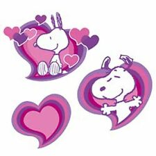 Snoopy Charlie Browns Peanuts Dog Hearts 70's 25 Wallies Stickers Love Decals