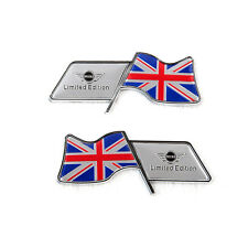 Pareja emblemas Mini Union Jack (cooper,s,one,countryman,clubman,R53,R56) badge