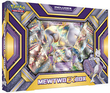Carte Pokemon XY MEWTWO-EX-Box 4 Booster Pack + promo + carta Jumbo