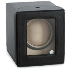 Diplomat Automatic Single Watch Winder Compact Box Smart Program Black Leather