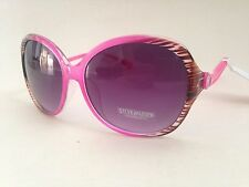 New Steve Madden Large Butterfly Sunglasses Pink Wood Purple Gradient S5436 $40