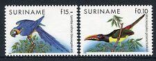 SURINAM 1991 Vögel Birds Uccelli Oiseaux Papagei Freimarken 1356-1357 ** MNH