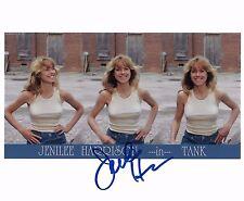Jenilee Harrison Signed 8x10 Photo in TANK -  Star of Three's Company BABE H484
