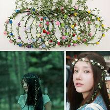 5pcs Women Bridal BOHO Floral Flower Head Chain Headband Party Wreaths Hair Band