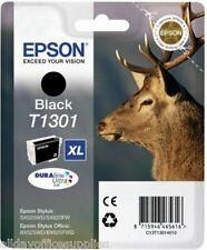 Epson T1301 T130 T-1301 1301 Black Original Genuine Ink Cartridge Boxed Vat Inc