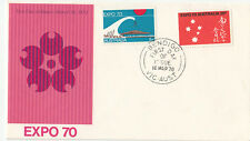 Stamps Australia EXPO 70 on official post office FDC unuaddressed catalogue $150