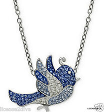 "BLUE BIRD OF HAPPINESS STERLING SILVER NECKLACE! .925! 18"" LOBSTER CLAW CLOSE!"