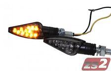 LED Mini Blinker TEO rauchgrau getönt mit E-Nummer für Suzuki SFV 650 Gladius
