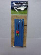 Zebco Flatfish beaded 2 hook rig size 2/0 hooks on foam winder Plaice Dabs etc: