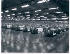 1967 Rows of Textile Rolling Machines Bibbs Manufacturing Columbus Press Photo