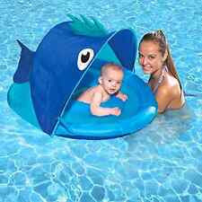 Swim School Confidence Building System Fish Sun Shade Baby Float Summer Pool Fun