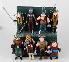 8pcs Dreamworks How to Train Your Dragon Astrid Gobber Fishlegs PVC Figure Set