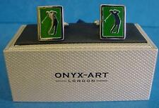CUFFLINK SET - GOLFER - IDEAL GOLF SOCIETY COMPETITION TROPHY PRIZE GIFT CK791
