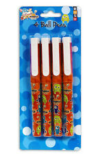 """The Critters"" Pack of 4 Ball Pens Fun for Children's School by Royle Stationery"