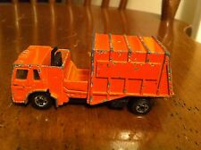 Vintage 1982 Orange Trash Truck Department Of Sanitation Hot Wheels Toy Car old