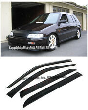 WINDOW SIDE VISORS HONDA CIVIC 88-91 WAGON 5DR SUN SHADE RAIN GUARD JDM