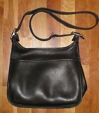 VINTAGE COACH A9D 9966 LEGACY BLACK LEATHER SHOULDER BAG HANDBAG PURSE