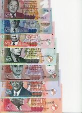 Mauritius, NEW Banknotes Complete SET ( 25,50,100, 200, 500, 1000, 2000 R)