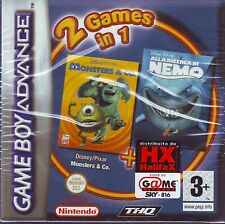 MONSTERS & CO. + ALLA RICERCA DI NEMO (2004) GAME BOY ADVANCE ITA NUOVO SIGILLAT
