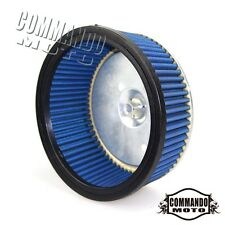 Motorcycle Air Filter For Harley-Davidson Dyna Road Glide Fatboy Road King Blue
