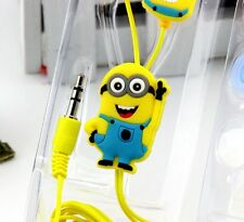 Earphones Cute Cartoon Yellow Style 3.5mm in ear Headphone