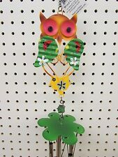 "Metal Owl Wind Chime 32"" Total Length"