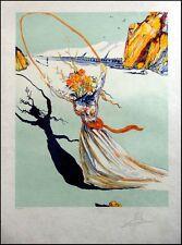 """Salvador Dali """"Transcendent Passage"""" Japon paper Hand Signed  Make an Offer!"""