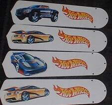 CUSTOM ~ CEILING FAN WITH HOT WHEELS HOT ROD CARS & TRUCKS ~ PERFECT FOR BOYS