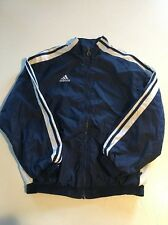 Boy's Adidas Athletic Blue Warm Up Jacket, Size Large