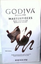 NEW - GODIVA Belgium 1926 MASTERPIECES Dark Chocolate Ganache HEART, Net 14.6 oz