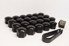 24 x 21mm Alloy Wheel Nut/Bolt Covers/Caps for 6 Stud Cars (Black)