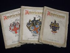1929-1930 AMERICANA ILLUSTRATED MAGAZINE LOT 5 - GREAT ILLUSTRATIONS - O 1099