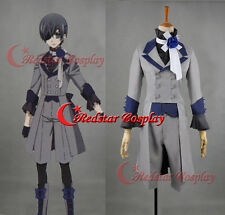 Black Butler 3 Ciel Phantomhive Grey Suit Cosplay Costume Unisex any size