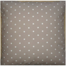 "NEW Large 24"" Floor Cushion Cover Taupe Mushroom Brown White Polka Dots Spots"