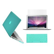 "3 in 1 Crystal  TIFANY BLUE Case for Macbook PRO 13"" + Key Cover + LCD Screen"