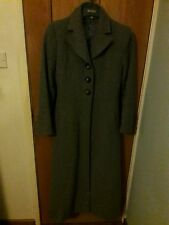 Womens Spring Wool Grey Cashmere Coat Trench Jacket Long Parka Overcoat RRP £50