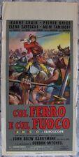 Locandina COL FERRO E FUOCO FIRE SWORD DAGGERS BLOOD INVASION Italy 1962