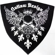 Outlaw Design Huge 12x12 Motorcycle MC Biker Back Patch HEY-0109