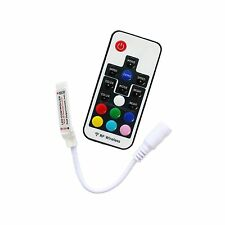 Mini 17 Keys DC 5V-24V 12A RF Wireless Remote Dimmer RGB Controller 5050 strip