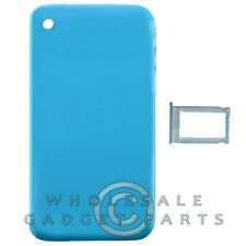 Door with Chrome Bezel for Apple iPhone 3GS Blue Rear Back Panel Housing Battery