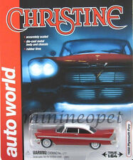 AUTOWORLD 6401 CHRISTINE 1958 58 PLYMOUTH FURY 1/64 DIECAST MODEL CAR RED