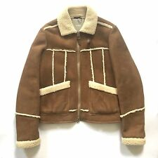 NWT $7k TOM FORD Men's Genuine Shearling Fur Leather Aviator Jacket M AUTHENTIC