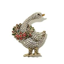 Heidi Daus What's Good for the Goose Pin SWAROVSKI CRYSTALS COLLECTORS MUST HAVE