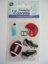 SANDYLION ESSENTIALS 3D STICKERS - AMERICAN FOOTBALL ball helmet