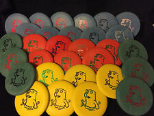 "RED Perry Bible Fellowship PBF ""Crazy"" Gopher Flying Disc Golf Putter"