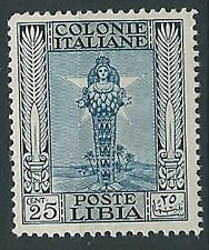 1924-29 LIBIA PITTORICA 25 CENT MNH ** - ED209-2