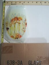 FREE US SHIP OK Touch Lamp Replacement Glass Panel Trio Of Angels 638-3A