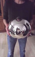 Large 19th century Mercury Glass Kugel Ornament Silver ( 9,84 in) Witch ball