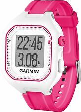 Garmin Forerunner 25 GPS Sports Running Watch Smart Notifications Pink & White
