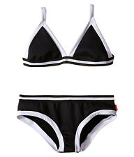 SEAFOLLY KIDS TAGGED SCUBA BIKINI SWIM BOTTOM PANT BLACK SIZE 8 NEW! $30